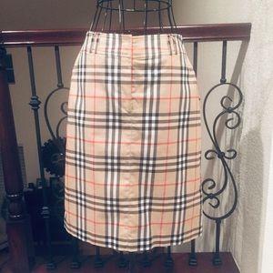 Burberry Multicolor Nova Check Knee Length Skirt